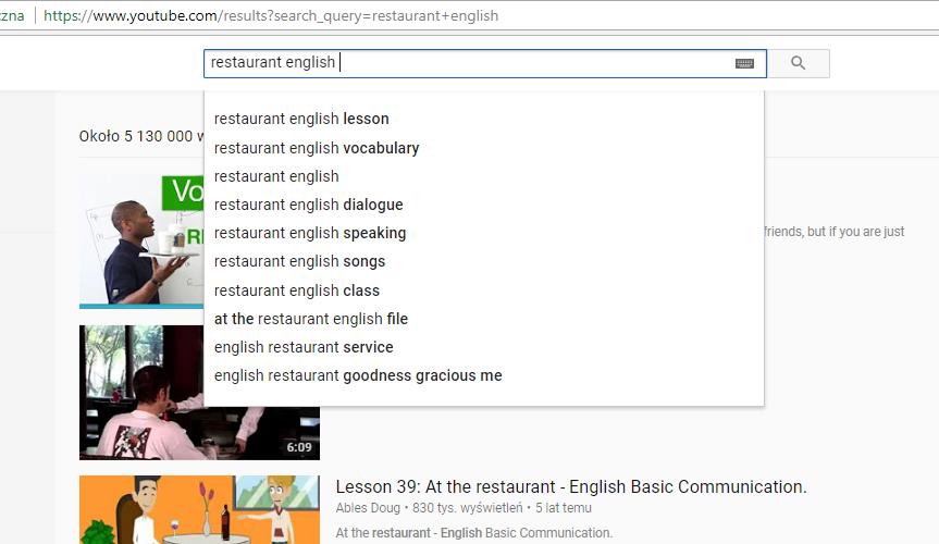 Angielski za granicą - jak się przygotować? Restaurant