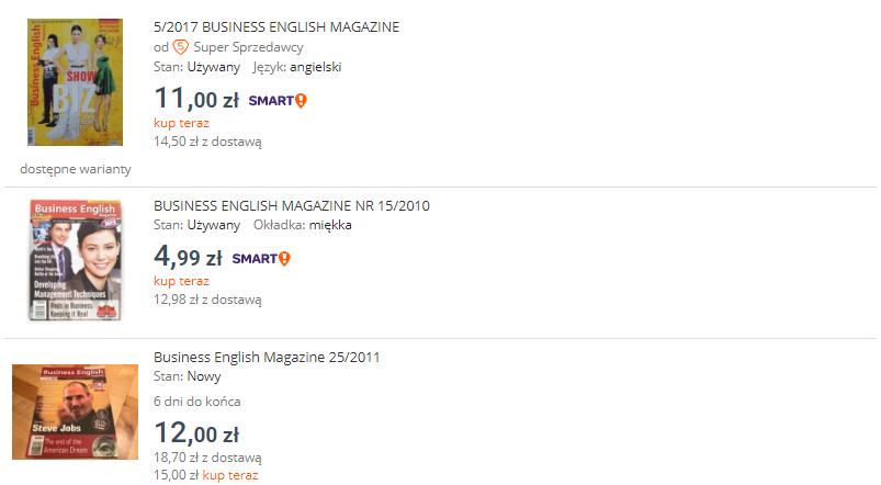 magazyny w języku angielskim - jak nauczyć się języka angielskiego