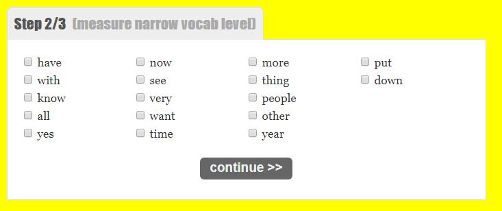 Ile znam słów po angielsku? Jak to zmierzyć?